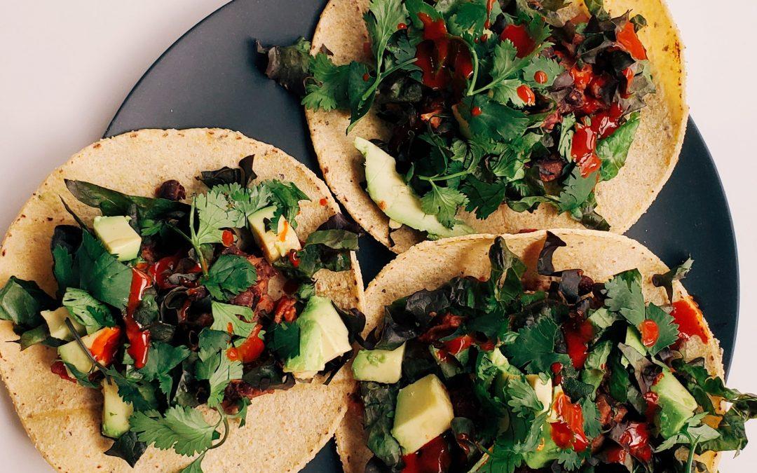 Bean & Mushroom Tacos – Plant-Based + Gluten Free